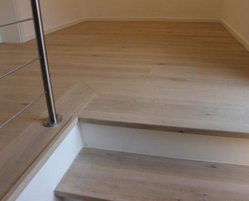 perfekter Treppenanschluss